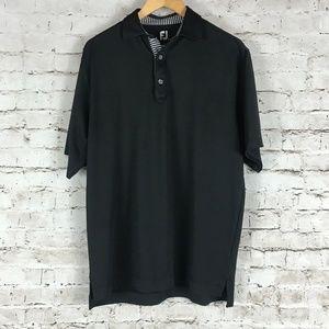 FootJoy Men's Golf Polo Shirt Size M Black